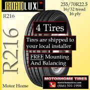 Motor Home Tires 255 70r22.5 Includes Shipping And Installation