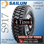 Sailun S917 4 Commercial Tires 11r22.5 With Free Shipping