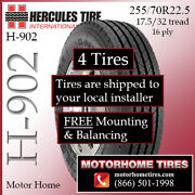 Motor Home Tires 255 70r22.5 Hercules Includes Shipping And Installation