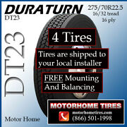 275/70r22.5 Rv Tires Motor Home Tires Duraturn Includes Shipping And Installation