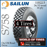 Sailun S758 4 Commercial Tires 11r22.5 With Free Shipping