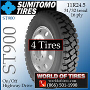 Sumitomo St900 4 Commercial Tires 11r24.5 With Free Shipping