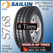 Sailun S768 8 Commercial Tires 295/75r22.5 With Free Shipping