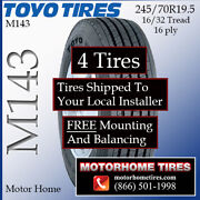 Rv Tires 19.5 Motor Home Tires 245/70r19.5 Includes Shipping And Installation
