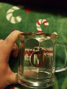 Babcock And Wilcox Mound Exit Project Miamisburg Ohio Clear Glass Gold Rim Cup Mug