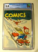 Walt Disneyand039s Comics And Stories 17 Dell February 1942 Cgc 5.0 Ow-white Pages