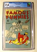 Famous Funnies 121 Eastern Color August 1944 Cgc 7.5 White W / Scarlet Oand039neil