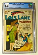 Superman's Girlfriend Lois Lane 3 Dc 7-8 1958 Cgc 6.5 Ow To White Pages