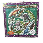 Magnetic Puzzle Dinosaur Puzzle 4+ The Orb Factory 15 Pieces W/poster