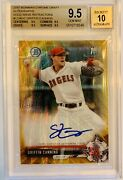 2017 Bowman Chrome Griffin Canning 1st Bowman Gold Shimmer /50 Auto Bgs 9.5/10