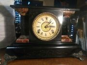 1900s Sessions Clock Co Mantle Clock 8 Day 1/2 Hour Strike Cathedral Gong Works