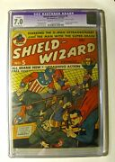 Shield Wizard 5 Mlj Mag. 1941 Cgc Apparent 7.0 Cream To Off-white Pages Rare
