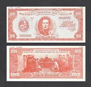 Uruguay 100 Pesos Proof Colour Variations A Proposed Issue Pick Unlisted Aunc