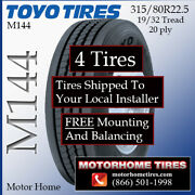 315 80 22.5 Toyo Motor Home Tires Includes Shipping And Free Installation 4 Tires
