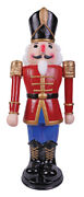 Holiday Nutcracker Animated Soldier Collectible Lights Up Music 3 Ft Home Dandeacutecor