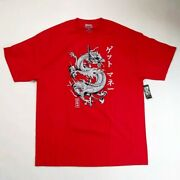Dgk Mens 100 Authentic S/s T-shirts Get Money Dragon Red Rare 1of1 Nice New