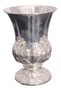 Sterling Silver Floral Kiddush Cup/goblet In Art Nouveau Style