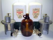 Vintage Canada Dry Ginger Ale And Trop-o Syrup Soda Fountain Dispensers