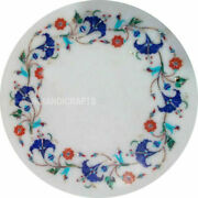 12x12 Marble Furniture Inlay Work Home Decoration Table Top Christmas Gifts