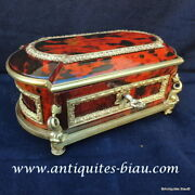 Jewelry Box In Boulle Tortoise Shell And Bronze 19th Napoleon Iii Period