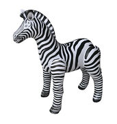 Jet Creations Inflatable Zebra Stuffed Animals Educational Birthday Party Toys