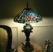 Lamp Limited Edition Stained Glass Handcrafted Vintage Light Shade 28