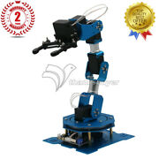 6dof Robot Arm 6-axis Robotic Arm W/servos Finished Version For Arduino Scratch