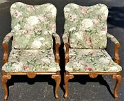 Pair Shelby Williams Louis Xv French Style Armchairs Provincial Fauteuil Bergere