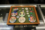 Vintage Lot Of Small And Big Political Buttons Nixon Carter