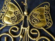 Vintage Wire Butterfly Christmas Ornament 1960s Or 1970s