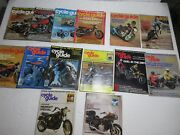 Vintage Cycle Guide Magazines Lot Of 14 Assorted 1975 -1980 Motorcycle Mag