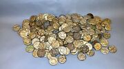 Old Mgm Movie Prop - Lot Of 229 Embossed Gilt Metal Faux Roman Coins - Ben Hur