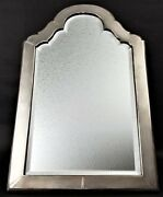 Antique Charles And Richard Comyns Sterling Silver 24 Art Deco Vanity Mirror