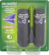 Nicorette Quickmist Duo 2 X 150 Sprays Cool Berry  Ships Fast From Usa