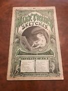 1874 Mark Twain Sketches First Edition First Issue Scarce