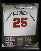 Andruw Jones Atlanta Braves Autographed Jersey Matted In A Premium30x34 Frame