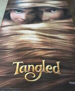 Tangled Banner 6x9 Ft Rare Poster Disney Double Sided Animation Mandy Moore