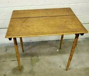 Rare 19th Century Antique Collapsible Figured Tiger Maple Campaign Console Table