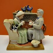 Rare Four Ages Of Love Porcelain Figurine Norman Rockwell Danbury Mint