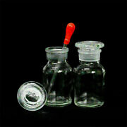 1-10pcs Clear Wide Mouth Ground Stopper Glass With Drop Reagent Bottle 125ml