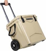 Ice Box Chest Cooler Wheeled Bottle Opener Cold Drinks Ice Last 10 Days 45 Qt