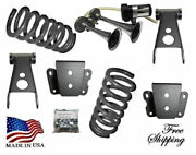 3-4 Drop Lowering Coil Springs Shackles Hanger Horn Fits 1965-1972 Ford F100