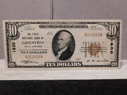 Greenville S.c. 10 National Currency