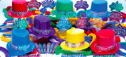 Multicolored New Years Eve Party Accessories Kit Party Supplies For 25 People