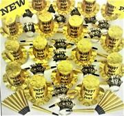 Gold And Black New Years Eve Party Accessories Kit Party Supplies For 100 People