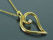 Authentic Tiffanyandco. 1987 K18 750 Yellow Gold And Diamond Leaf 15 Necklace +box