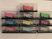 2019 Hw House Of Cars Vw Drag Bus Customized 10th Anniversary Bus Set Lot Of 10