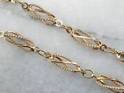 Italian Woven Gold Link Chain Necklace