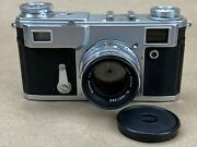 No-name Contax Vintage Rangefinder Camera W/ Zeiss 50mm F/2 Lens - Clean And Rare