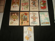 9 Vintage Antique Early 1900s New Years January 1st Postcards Rare